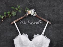 Personalized Wedding hanger made of wood and wire