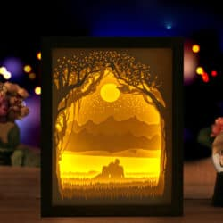 Super bright Couple Light Shadow Paper Carved Lights Diy