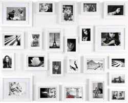 White Gallery Wall Picture Frames Set