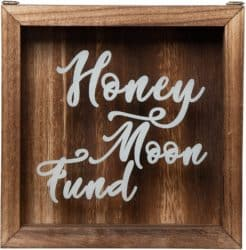Wooden Honeymoon Fund Shadow Box