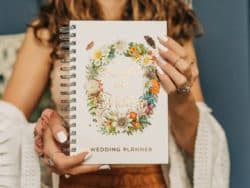 cheap personalized bridal shower gifts - Boho Wedding Planner Book