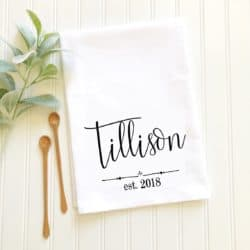 cheap personalized bridal shower gifts - Customized towel