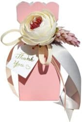 personalized bridal shower favors - Candy Boxes with Ribbon and Flower