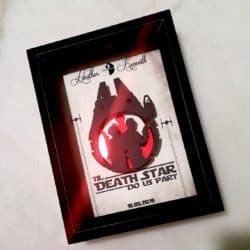 unique personalized bridal shower gifts - 3D Star Wars Wedding Gift