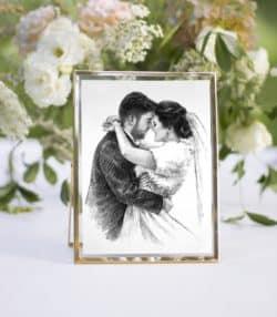unique personalized bridal shower gifts - Couple Portrait