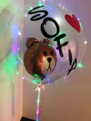 unique personalized bridal shower gifts - Customized 18 inch Transparent Balloon with LED light