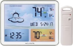 Anniversary Gifts That Could Also Be Birthday Gifts For Husband - Weather Station with Jumbo Display and Atomic Clock