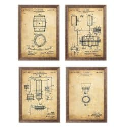 Whiskey Patent Print Set