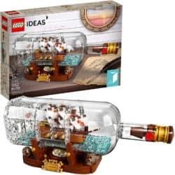 LEGO Ideas ship inside a bottle model