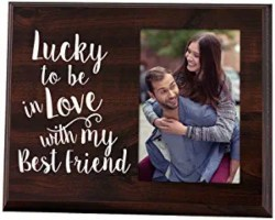 Anniversary Gifts for Husband - Lucky to Be in Love Picture Frame