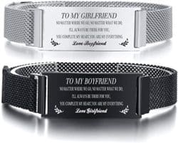 Best Anniversary Gifts for Husband - Message Engraved Bracelet