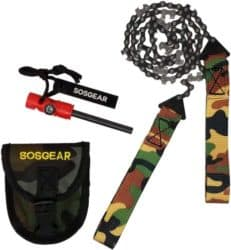 Best Anniversary Gifts for Husband - SOS Gear Pocket Chainsaw and Fire Starter