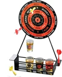Unique Gifts for Husband - Shot Glass Darts Bar Game Set