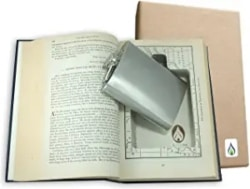 Unique Gifts for Husband - SneakyBooks Recycled Hollow Book Hidden Flask Diversion Safe (Flask Included)