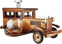 Old Fashioned Car Whiskey Decanter Set