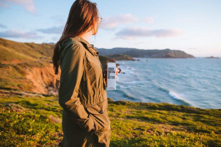 Girl, enjoying the beautiful view.