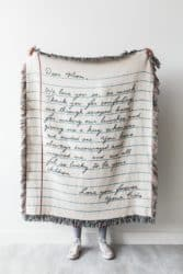 20th anniversary gifts for husband - Love letter blanket
