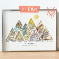 20th anniversary gifts for husband - Personalized adventure map
