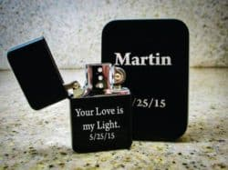 20th anniversary gifts for husband - Personalized lighter