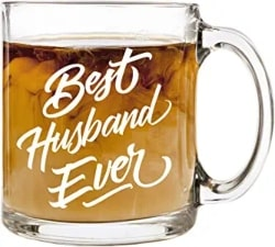 Best Husband Ever - 12 oz Glass Coffee Cup Mug
