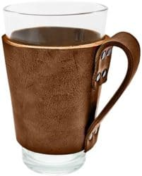 Leather Pint Sleeve with Handle