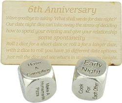 Birthday gifts for husband - Metal Date Night Dice