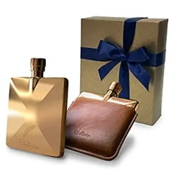 Gold Pocket Hip Flask