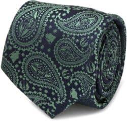 Star Wars Yoda Paisley Green Men's Dress Tie