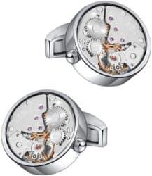 Watch Movement Cufflinks Silver
