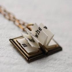 Book Locket Necklace (1)