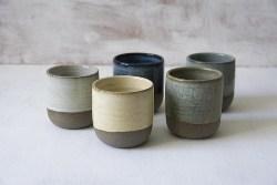 5 Pottery Espresso Cups