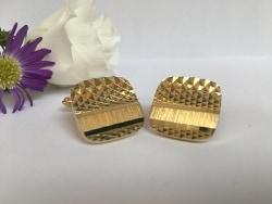 gold vintage cufflinks