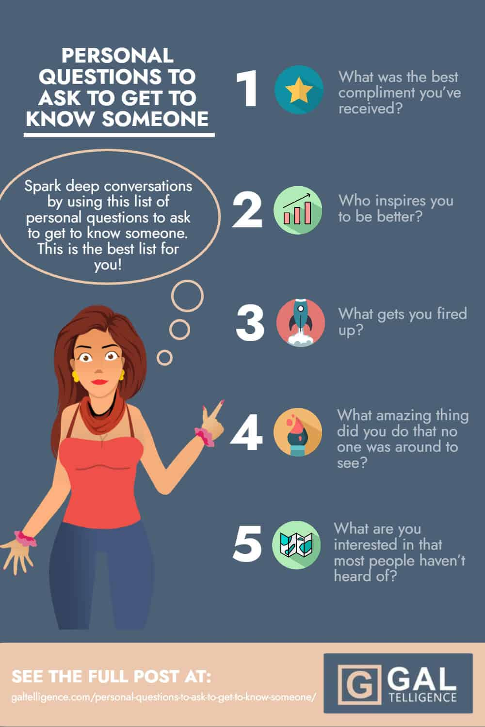 Personal Questions To Ask To Get To Know Someone - infographic