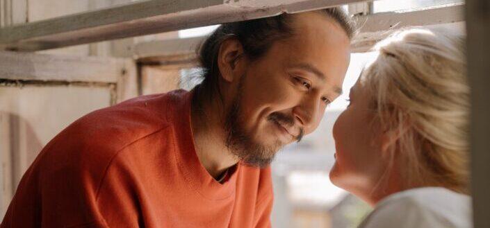 man looking at his woman lovingly