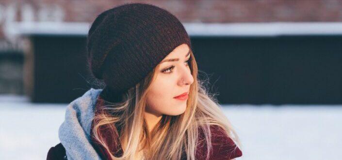 A beautiful woman looking away