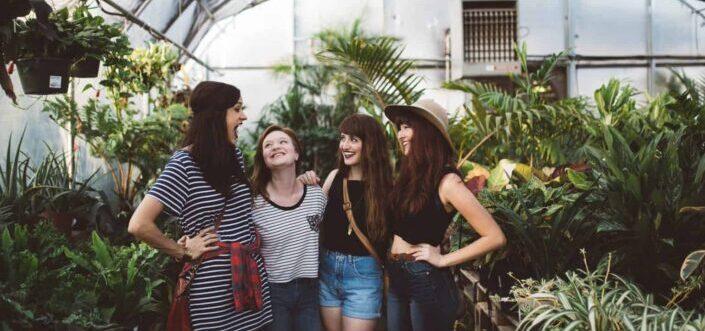 women having a fun conversation